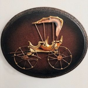 Buggy Carriage Wooden Wall Hanging Home Decor